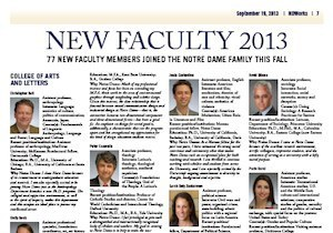 NDWorks story on new faculty