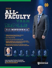 Rick Mendenhall Feature From Gameday Program