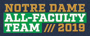 Notre Dame All-Faculty Team 2019 header