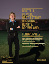 Ann Tenbrunsel Football Feature
